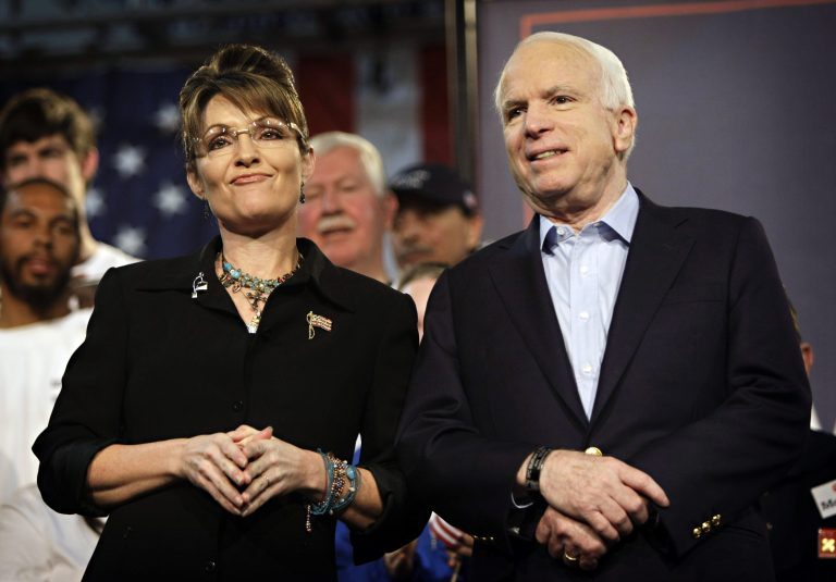 U.S. Sen. John McCain, R-Ariz., and Sarah Palin (AP Photo/Matt York)