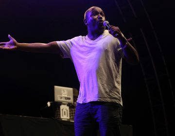FILE - In this July 22, 2017 file photo, Hannibal Buress performs at the FYF Fest in Los Angeles. The path to comedian Bill Cosby's conviction of drugging and molesting a woman in a Pennsylvania courtroom Thursday, April 26, arguably started 3 ½ years earlier in a comedy club across town in Philadelphia, when Buress  mocked Cosby for his smug preachiness, then called him a rapist during his standup act. (Photo by Willy Sanjuan/Invision/AP, File)