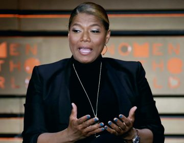 In this April 6, 2017, file photo, Queen Latifah speaks during the Women in the World Summit at Lincoln Center in New York. Latifah is scheduled to deliver the keynote address at the Rutgers − Newark commencement ceremony on Monday, May 14, 2018. An Associated Press analysis found that two-thirds of the speakers at the nation's 25 wealthiest colleges' ceremonies in spring 2018 are women for the first time in at least two decades. (Richard Drew/AP Photo, File)