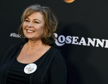 Roseanne Barr arrives at the Los Angeles premiere of