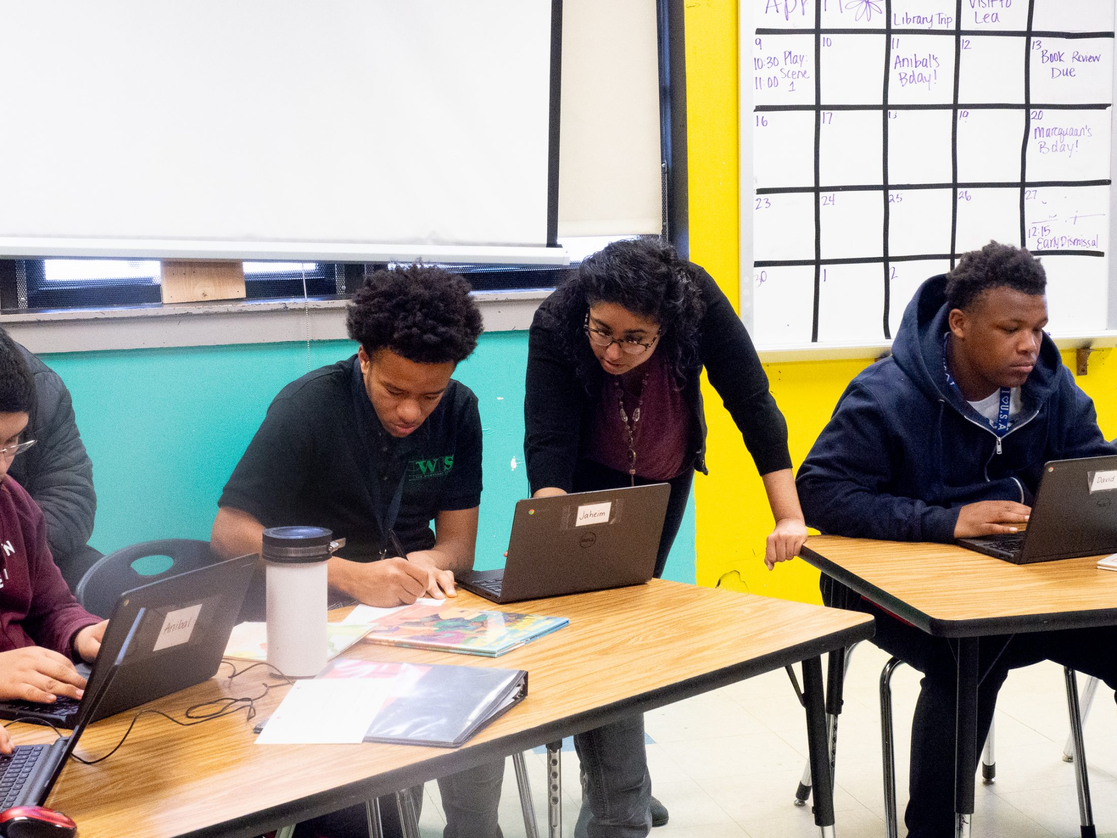 At The Workshop School, English teacher Swetha Narasimhan works with ninth-graders on a project in which they create an original children's book.