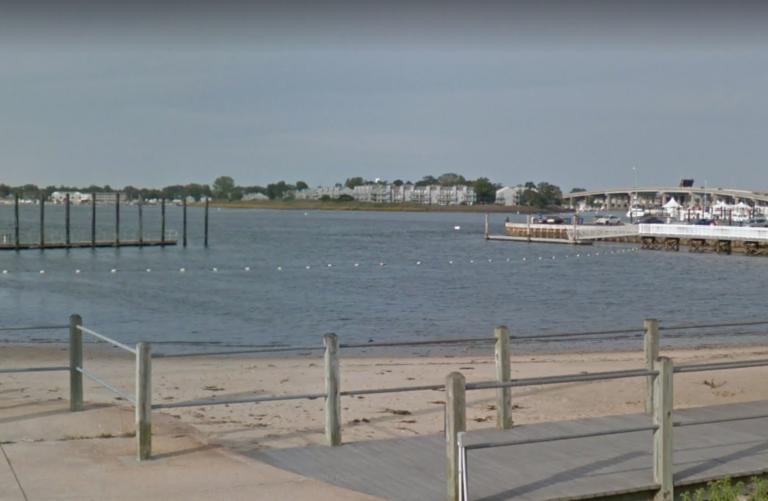 The L Street river beach in Belmar, New Jersey. (Google image)
