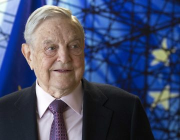 George Soros, founder and chairman of the Open Society Foundations, before the start of a meeting at EU headquarters in Brussels in 2017. (Olivier Hoslet/AP)