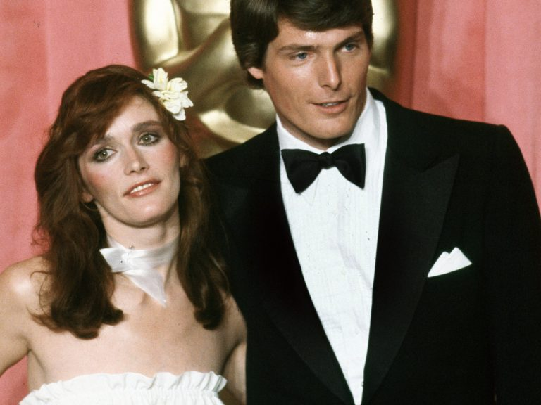 Actress Margot Kidder is seen here with her Superman costar Christopher Reeve. (Reed Saxon/AP)