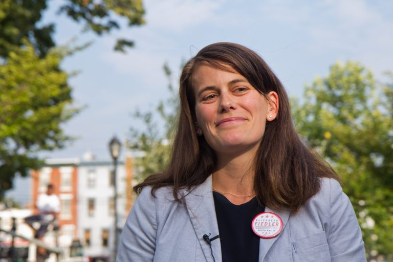Former WHYY reporter Elizabeth Fiedler came away with a win in the 184th House District primary race. (Kimberly Paynter/WHYY)