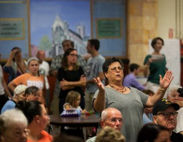 Residents of Fishtown were provided an open forum to voice their opinions on a proposal to convert Saint Laurentius Church into twenty-three apartments. (Brad Larrison for NewsWorks)