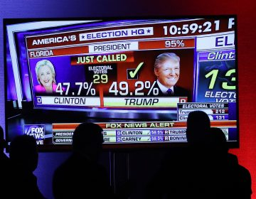 Supporters of Republican presidential nominee Donald Trump watchas Fox News projectshim the winner in Floridaon Nov. 8, 2016. Fox is joining the Associated Press in a new experiment to measure voter preferences, that willbe key to their projections onElection Night inÂ