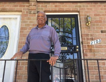 Linton Rawls, 80, lives across the street from the empty lot where Temple wants to build a community center.