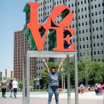 Melat Hagos wanted to see LOVE Park on her first visit to Philly. May 7, 2018  Neal Santos for PlanPhilly