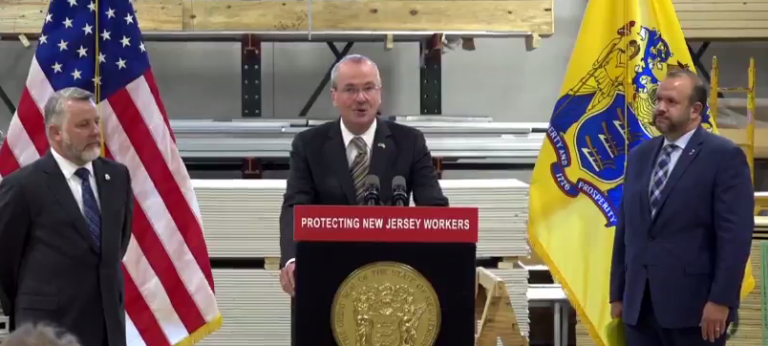 N.J. Gov. Phil Murphy says the task force will make recommendations on how to improve misclassification monitoring and enforcement. (Phil Gregory/WHYY)