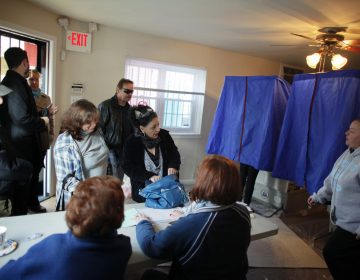 People cast their votes at a polling location in South Philadelphia.  (AP File Photo/ Joseph Kaczmarek)