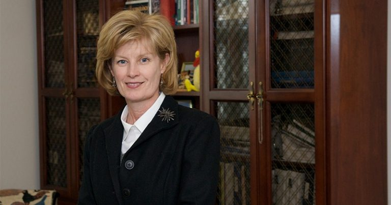 Robin Morgan, a longtime UD faculty member, is the school's first permanent female provost. (University of Delaware)