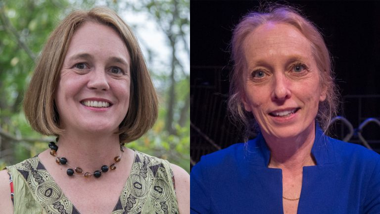 Ashley Lunkenheimer (left) and Mary Gay Scanlon (Emily Cohen for WHYY)