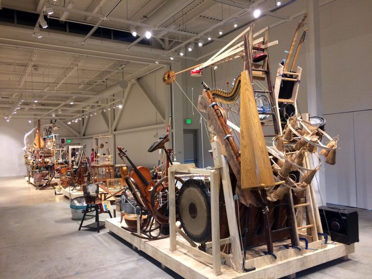 The Musical Rube Goldberg Machine Consists Of Over 200 Instruments Played By Just Two Performers Jen Kinney Whyy