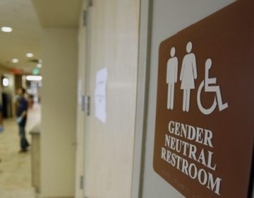 A sign marks the entrance to a gender-neutral restroom at the University of Vermont in Burlington, Vt. (Toby Talbot/AP Photo, file)