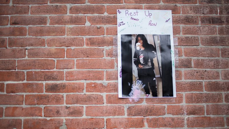 Sandrea Williams, 17, was shot and killed in a random act of violence outside of her mother's West Philadelphia home. Two others were injured. (Emily Cohen for WHYY)