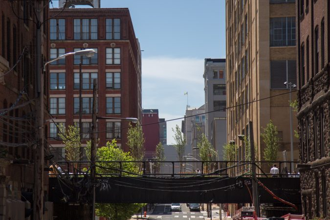 The first phase of the Philadelphia Rail Park stretches from 13th and Noble to 12th and Broad. (Emily Cohen for WHYY)