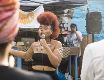 A performer at last year's Juice: A Summerfest for Queer/Trans Women of Color. The event, hosted at Life Do Grow Farm in North Philadelphia, aims to create a more inclusive Pride. (Photo: Shanel Edwards)
