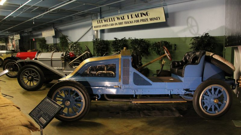 A 1907 Renault Racing Roadster at the Simeone Museum is one of 11 sold and one of four known to exist intact. (Emma Lee/WHYY)