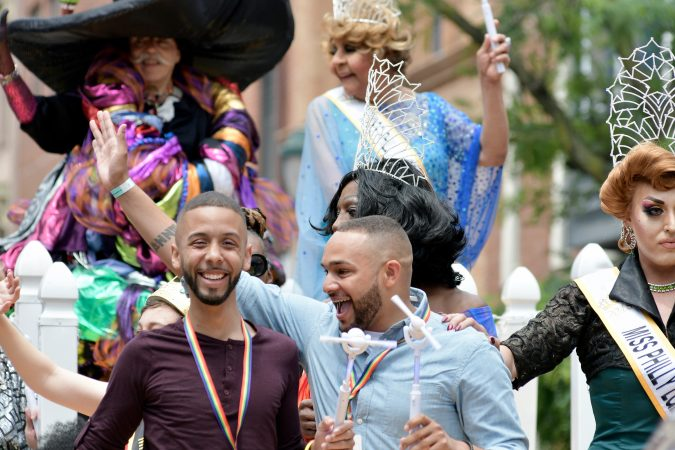 The grand marshal float at Philadelphia's 30th annual PrideDay parade on Sunday, June 10, 2018.(Bastiaan Slabbers for WHYY)