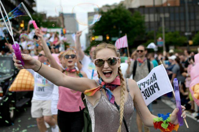 Scene from Philadelphia's 30th annual PrideDay on Sunday, June 10, 2018. (Bastiaan Slabbers for WHYY)
