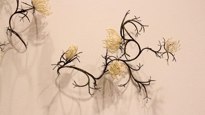 Jennifer Trask used python and rattlesnake ribs to create