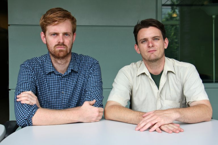 Journalists Max Marin and Ryan Briggs reported on sexual harassment at City Hall for Philadelphia Weekly. (Emma Lee/WHYY)