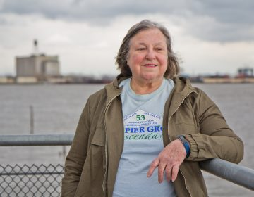 Susan McAninley collects stories from the descendants of immigrants who came through Pier 53 in South Philadelphia at the turn of the 20th century. (Kimberly Paynter/WHYY)
