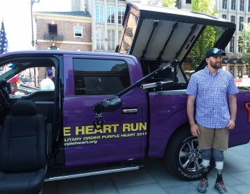 The 2018 Purple Heart Truck Run stops in Philadelphia, June 20, 2018.