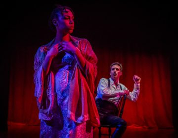 Victoria Aaliyah Goins in the title role and Damon Bonetti as the villain in the Philadelphia Artsts' Collective production of