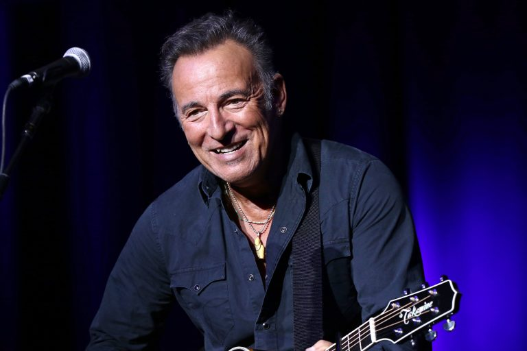FILE - In this Nov. 10, 2015 file photo, Bruce Springsteen performs at the 9th Annual Stand Up For Heroes event in New York. (Photo by Greg Allen/Invision/AP, File)