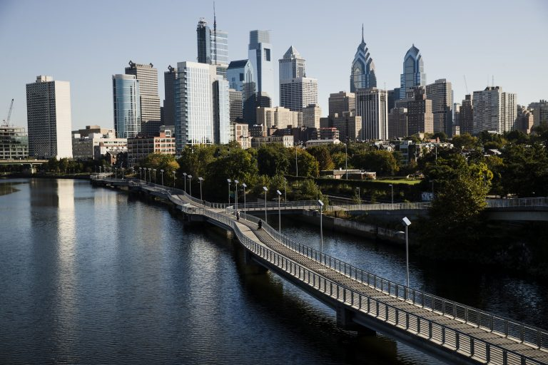 Shown is the Schuylkill River and view of the Philadelphia skyline, Wednesday, Oct. 18, 2017. (Matt Rourke/AP Photo)