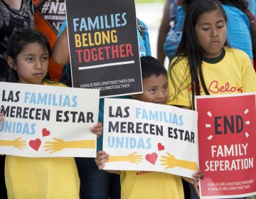 A group of children hold up signs during a demonstration in front of the Immigration and Customs Enforcement (ICE) offices, Friday, June 1, 2018, in Miramar, Fla. The children were taking part in the Families Belong Together Day of Action, where demonstrators in cities across the U.S. protested against separating immigrant children from their families. (Wilfredo Lee/AP Photo)