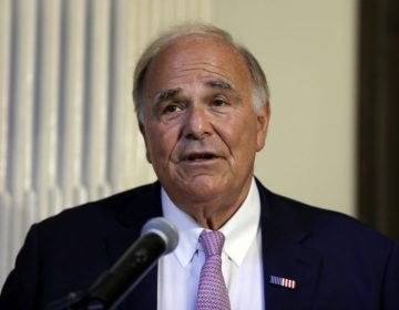 Former Pennsylvania Gov. Ed Rendell speaks at Pennsylvania Hospital in Philadelphia on Monday June 18, 2018. Rendell said he was diagnosed three-and-a-half years ago with Parkinson's disease. (AP Photo/Matt Rourke)