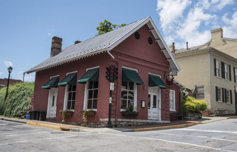 This Saturday, June 23, 2018 photo shows the Red Hen Restaurant in downtown Lexington, Va. White House press secretary Sarah Huckabee Sanders said Saturday in a tweet that she was booted from the Virginia restaurant because she works for President Donald Trump. Sanders said she was told by the owner of The Red Hen  that she had to