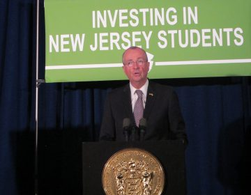 New Jersey Gov. Phil Murphy says without an agreement on a sustainable revenue source, there will be no agreement on school funding. (Phil Gregory/WHYY)