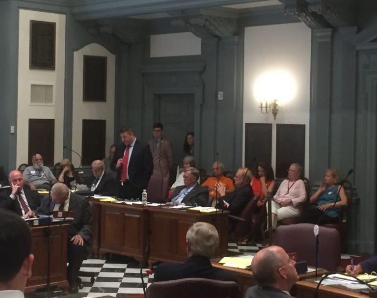 Legislation to ban certain assault-style weapons in Delaware failed to win approval for a vote on the Senate floor Tuesday. (Zoë Read/WHYY)
