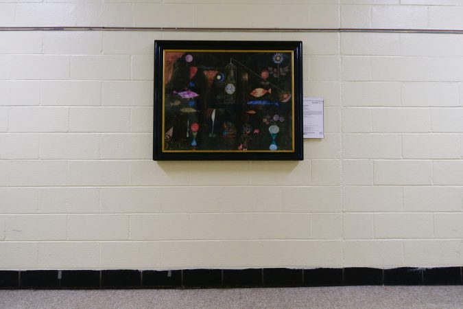 Fish Magic, by Paul Klee (1879-1940, Switzerland) is one of six replicas at Edward Gideon Elementary School, part of the Inside Out program that aims to brings art closer to children. (Bastiaan Slabbers for WHYY)