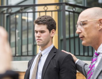 Ryan Burke, one of the former fraternity members charged in the hazing death of Penn State student Timothy Piazza, pleaded guilty Wednesday. (Min Xian/ WPSU)