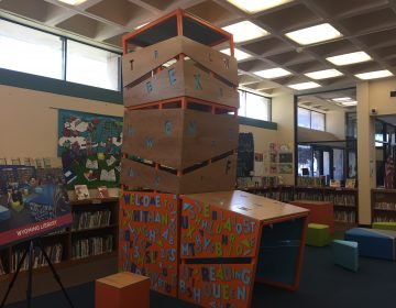 The new play space inside Whitman library in South Philadelphia. (Avi Wolfman-Arent/WHYY)