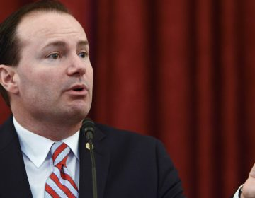 Sen. Mike Lee, R-Utah, speaks during an event on Capitol Hill in 2016. Lee is the only member of the Senate on Trump's list. (Leigh Vogel/Getty Images)