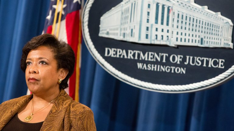 Former Attorney General Loretta Lynch is expected to be faulted by a forthcoming inspector general's report set for release next week. (Allison Shelley/Getty Images)