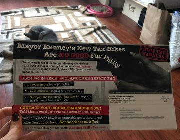 The Realtors association's mailer opposing Mayor Kenney's budget proposal. (PlanPhilly)