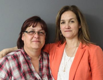 Glennette Rozelle (left) and Jennifer Mack at their StoryCorps conversation in Oklahoma City last month. (Kevin Oliver/StoryCorps)