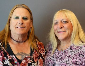 Veterans Sue McConnell (left) and Kristyn Weed bonded quickly after meeting at a weekly VA transgender support group.