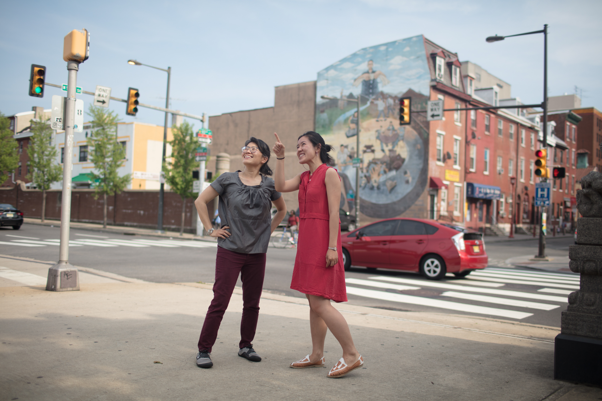 Melissa Kim (L) and Sarah Yeung have worked to mend fences between Chinatown and the Rail Park project.