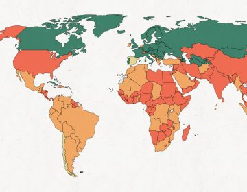 Map of paternity leave. (World Policy Center)