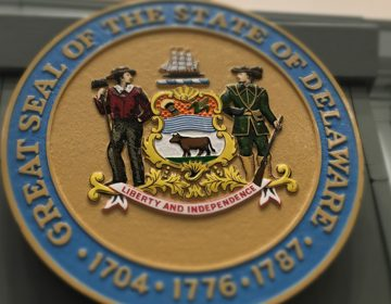 A closeup of Delaware's General Assembly seal