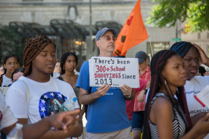 Around 70 supporters gathered together for a march from the Philadelphia Art Museum to Independence Mall 105 days after the