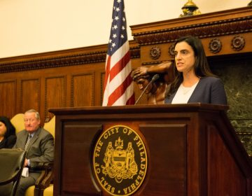 Philadelphia City Controller Rebecca Rhynhart released her findings Thursday on the city's policy on sexual harassment, which she says is inadequate and poorly implemented. (Lindsay Lazarski/WHYY)
